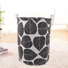Душевая комната Водонепроницаемый стиральный тканевый одежда корзина для хранения складной ящик для хранения Органайзер для храненния ванных# G