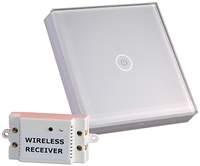 12V Wireless Remote Control Touch Switch For Lamps Lights And Power Strip White Crystal Glass Panel
