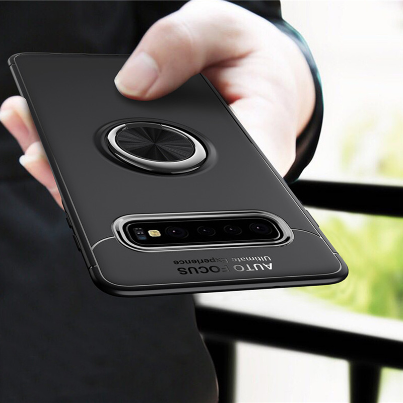 Soft Slim 360 Rotating Magnetic Car Mount Ring Holder Kickstand Galaxy A6 2018 Cover Case for Galaxy A7 2018