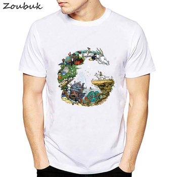 Camiseta con estampado de Letras Animadas para hombre 78128fba7c3