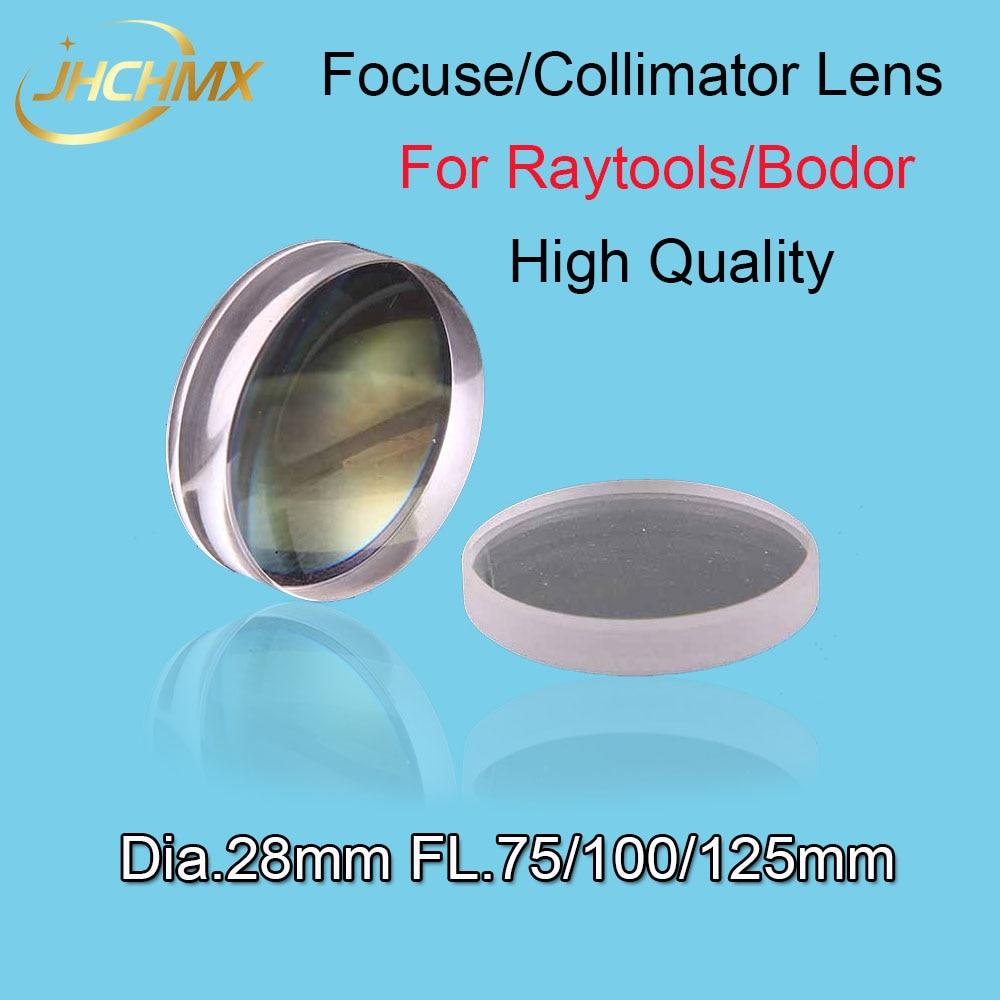 High Quality Bodor Empower Focusing/Collimator Lens Dia.28 FL.75/100/125mm For Bodor Raytools BT210 BT230 Fiber Laser Machine lskcsh fiber laser focusing lens collimator lens d28 f150 200mm for lasermech raytools fiber mini accufiber laser doublet lens