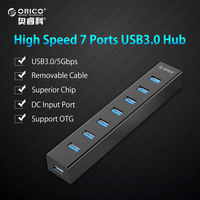 ORICO Super Speed 7 USB Ports USB 3.0 HUB Splitter avec Micro Usb Interface pour Macbook Air Ordinateur Portable PC Ordinateur Hubs Usb