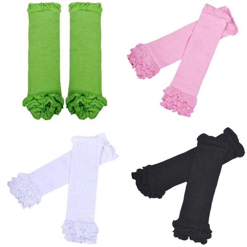 M89CNew Children Baby Girl Socks Baby Leg Warmers Sock Kneepad Tight Stocking Socks White/Black/Green/Pink