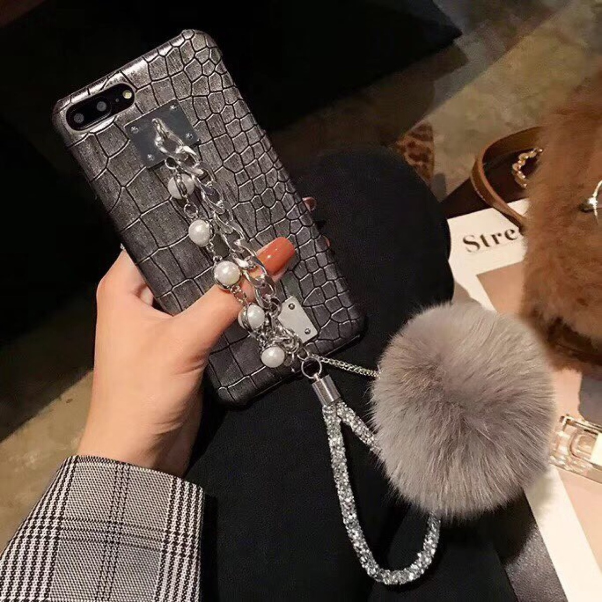 Luckywang for iphone 7 case Bracelet Protect Woman Favourite Luxury For Iphone 5s Case Mobile Phone Bags