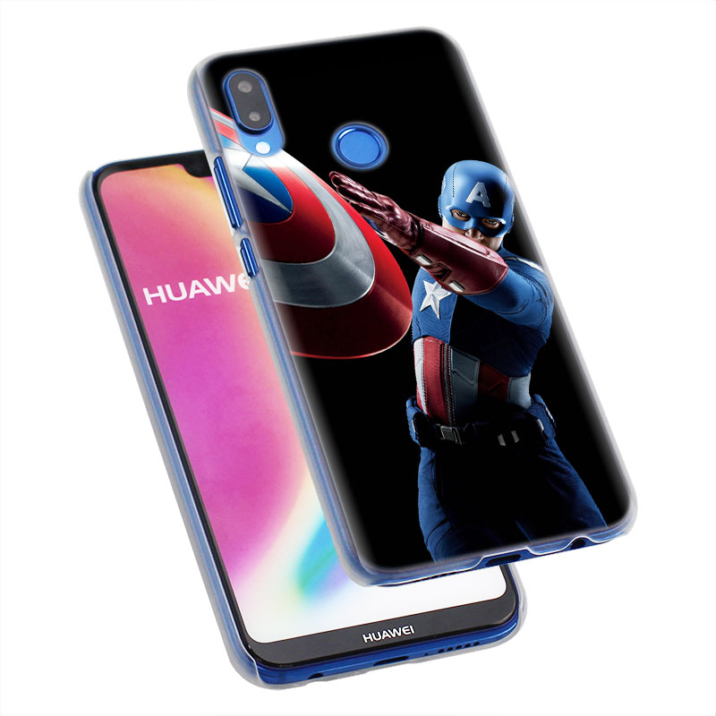 Marvel Phone Cases for Huawei P30 P30 Pro P10 P20 Lite Nova 4e P Smart Plus View 20 avengers Super Hero Hard Back case Coque in Half wrapped Cases from Cellphones Telecommunications