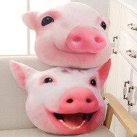 Pig head pillow plush toy expression pack pillow emoji seat cushions modern home decor cute pillow