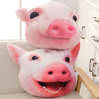 Pig head pillow plush toy expression pack pillow emoji seat cushions modern home decor cute pillow
