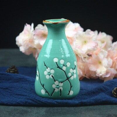 Японский ликер горшок Ретро керамика теплые емкость для ликера дистрибьютор бытовой маленькие белые вина флакон китайский barware Сакура - Цвет: 14