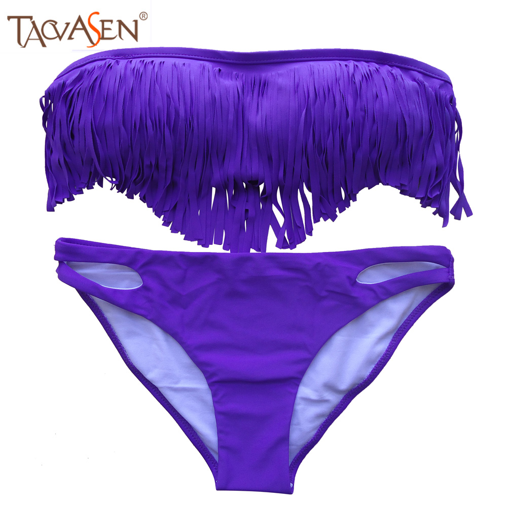 buy sexy fringe bikini tassel bikini traje de bano mujer 2016 swimwear maillot. Black Bedroom Furniture Sets. Home Design Ideas