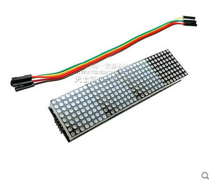 1pcs MAX7219 Dot Matrix Module   Microcontroller 4 In One Display with 5P Line