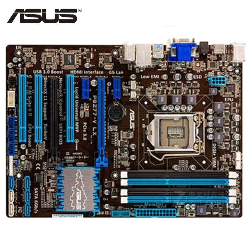ASUS P8Z77-V LX Motherboard LGA 1155 DDR3 32GB For Intel Z77 P8Z77-V LX Desktop Mainboard Systemboard SATA III PCI-E X16 Used