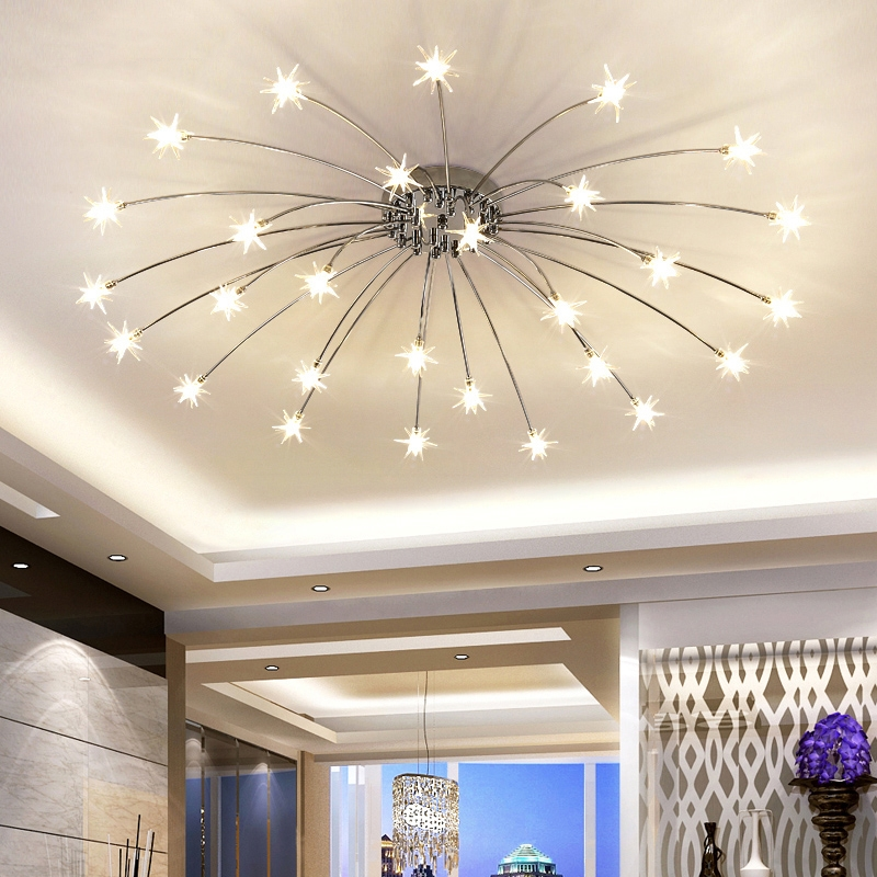 Modern Star Ceiling Light For Living Room Bedroom