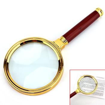 6X Лупа Ручной Лупа с пластиковой ручкой металлическая рамка 80 мм Лупа для чтения/идентификации ювелирных изделий