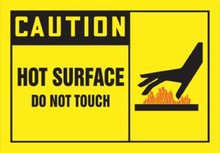 500pcs/lot 114x76mm CAUTION HOT SURFACE DO NOT TOUCH self-adhesive paper lable sticker, Item No.CA11