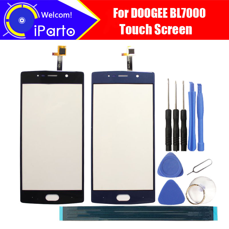 5.5 pulgadas doogee BL7000 pantalla táctil 100% garantía original nueva pantalla táctil de cristal para BL7000 + herramientas + adhesivo