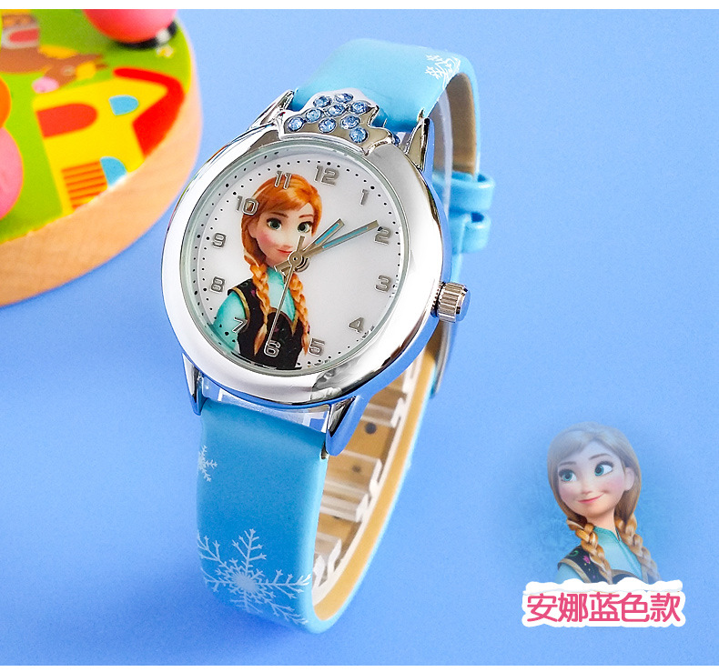 Relogio Feminino New Relojes Cartoon Children Watch Princess  Watches Fashion Kids Cute Rubber Leather Quartz Watch Girl #6