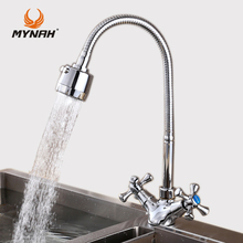 MYNAH Kitchen Faucet Russia classic kitchen faucet dual control multi color choice of angle free conversion water tap