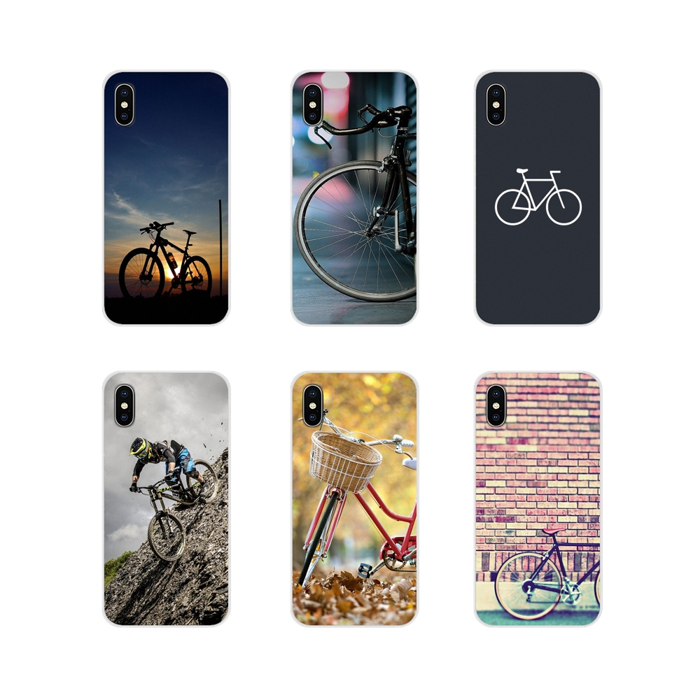 For Apple iPhone X XR XS MAX 4 4S 5 5S 5C SE 6 6S 7 8 Plus ipod touch 5 6 Accessories Phone Shell Cases Bicycle Times Wallpapers image