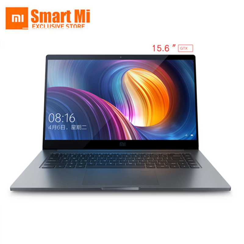 Ноутбук Xiaomi Mi Air Pro 1050 дюймов GTX 15,6 Max-Q ноутбук Intel Core i7 8550U Процессор NVIDIA 16 ГБ 256 ГБ отпечатков пальцев Windows 10