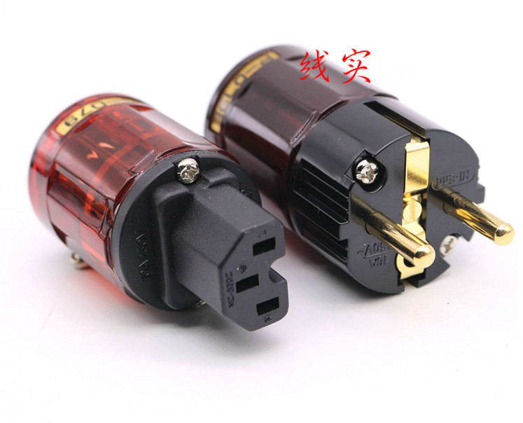 2 SET For OYAIDE P079E C079 Power Supply Wire Hifi Connector Plugs/Power Plug European Standard Electrical Source EUR Power Plug