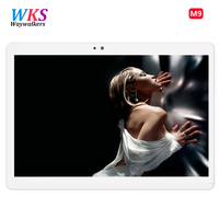 O envio gratuito de Android 7.0 Tablet Pc 10 polegada tablet PC Phone call 4G LTE núcleo octa 1920x1200 4 + 64 Dual SIM tablets Pcs WiFi 5 Ghz
