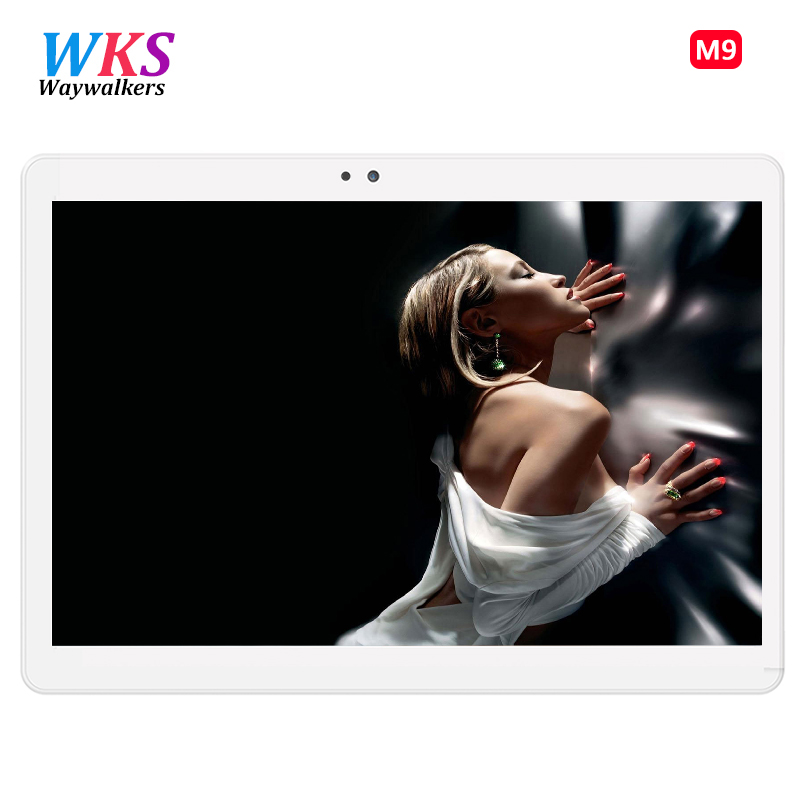 Spedizione gratuita Android 7.0 Tablet Pc 10 pollice tablet PC Phone call 4G LTE octa core 1920x1200 4 + 64 Dual SIM tablet Pc WiFi 5 Ghz