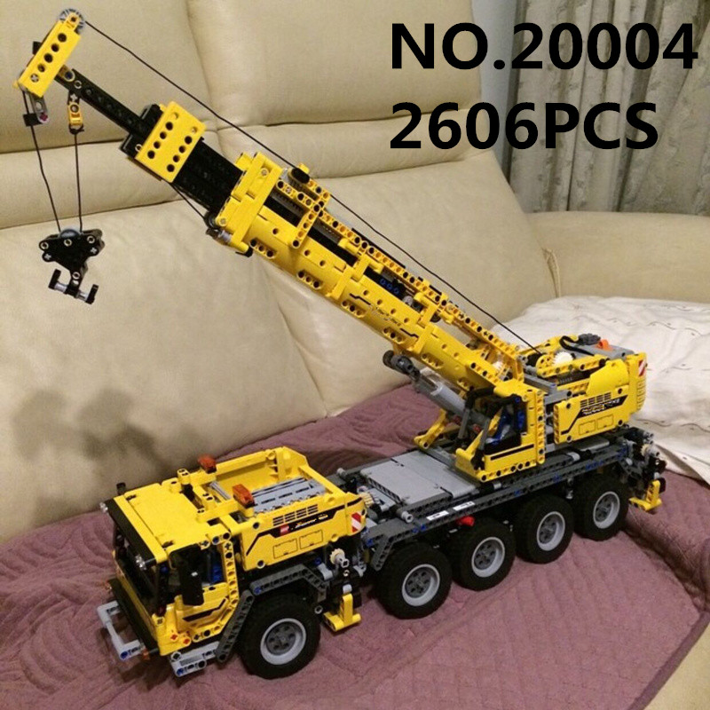 20004 2606PCS Technic Series Motor Power Mobile Crane MK II Building Blocks Ecudational Toys For Children Compatible 4200920004 2606PCS Technic Series Motor Power Mobile Crane MK II Building Blocks Ecudational Toys For Children Compatible 42009