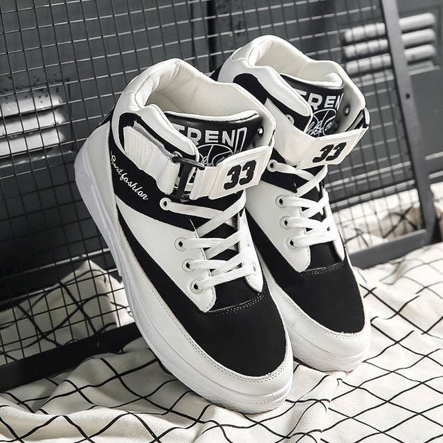 Mazefeng 2018 Spring Men Casual shoes Hard Wearing high top Shoes Men Sneaker Lace up Trend Men Flats Shoes Breathable Male Flat