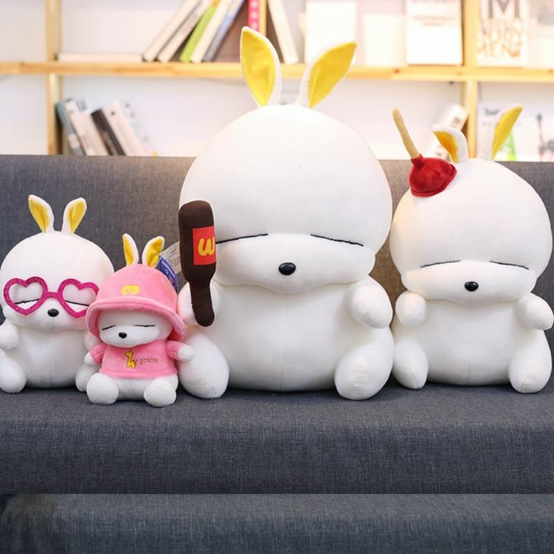 1pc 30cm&45cm Cute Mashimaro Plush Toys Cartoon Soft Mashimaro Rabbit Stuffed Toys 5 Styles Children Girls Birthday Gifts
