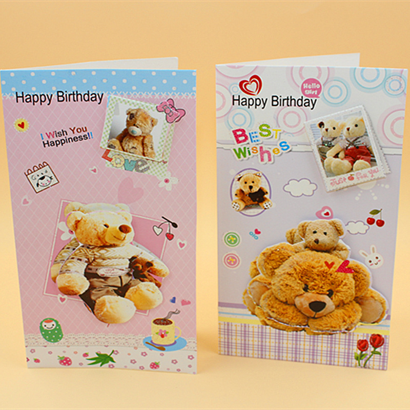 (16 Pieces/lot)Korean Design Lovely Cartoon Bear Greeting