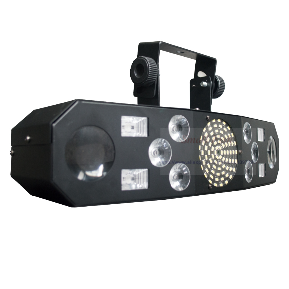 Professional 5IN1 Pattern Effect RGBW Audio Star Whirlwind Laser Projector Stage Disco DJ Club Bar KTV Family Party Light Show - 3
