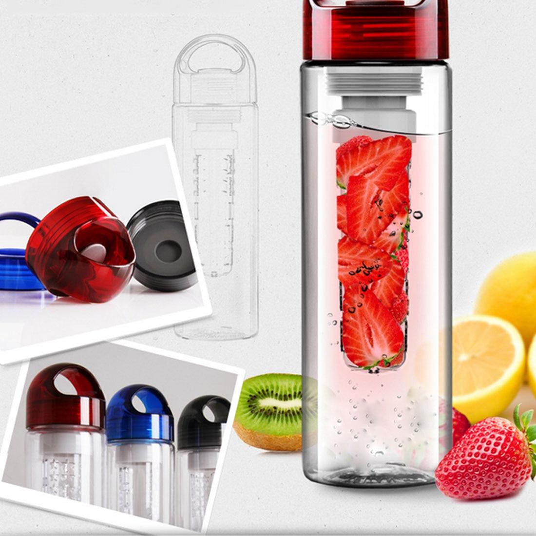 Best Sale 700ML BPA Free Plastic Fruit Infuser Water Bottle With Filter Leakproof Sport Hiking Camping Drink Shaker Bottle