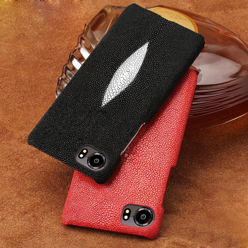 Étui de téléphone mobile de luxe perle poisson un demi-paquet de étui de téléphone portable Pour BlackBerry KEYone coque de téléphone traitement personnalisé