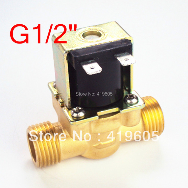 "Free Shipping 12VDC eletric Solenoid Valve 1/2"" normally closed ,Copper body water valve ,have filter"