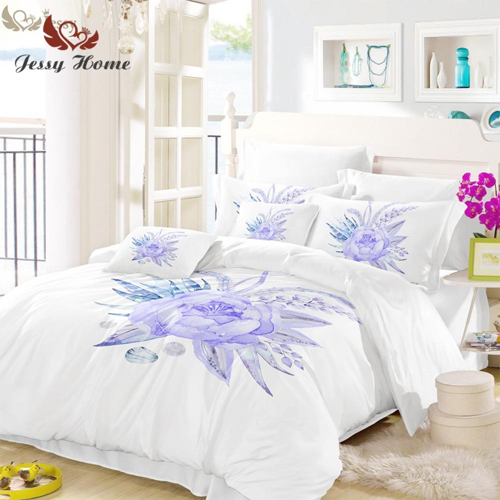 Bettwasche Lila Blumen