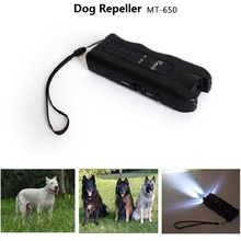 Original MT-650 Ultrasonic Dog Repeller Anti Barking Dog Control and Flashlight