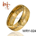 Free Shipping The Lord Of The Ring Tungsten ring 3 Diferent Color 8mm Width Size4-15 The one ring