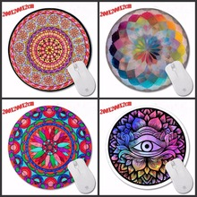Particular Sample DIY Customized Flowers Artwork Spherical Circles Blue Electrical Mouse Mat Excessive High quality Resistant Filth 200*200*2m Mouse Pad