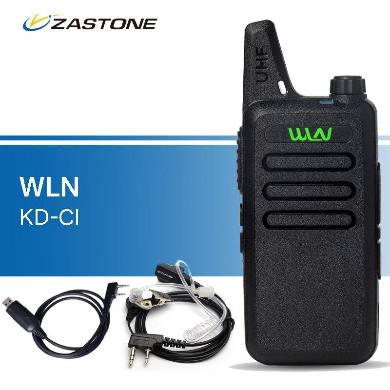 Original WLN KD C1 Walkie Talkies UHF 400 470 MHz Portable Transceiver Ham Radio Handheld Transceiver