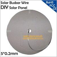 2 كيلوجرام ، 240 متر ، 5x0.2 ملليمتر تؤدي الشمسية بسبار الأسلاك ، 5 ملليمتر الشمسية حافلة شريط الأسلاك ، 5 ملليمتر سلك لل خلايا الشمسية pv الشريط لحا...