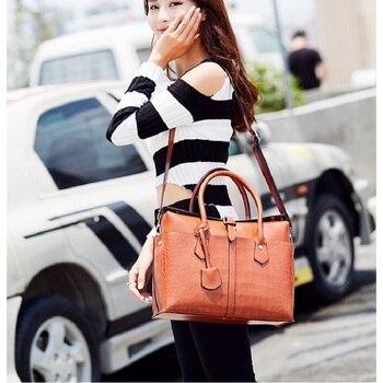 Designer Women Shoulder Bag Large Tote Bag Women's Quality Handbags for Female Crocodile Leather Messenger Bag 1