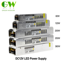 12V 20A 240W 110V 220V Lighting Transformers High Quality Safy Driver For LED Strip 5050 5730