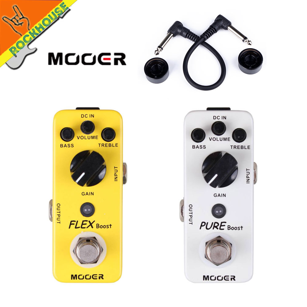 MOOER Pure Boost Clean Booster Guitar Pedal Acoustic Booster Enhance Presence Boost Output signal True Bypass
