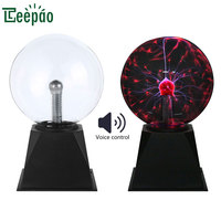 Novelty Glass Magic Plasma Ball Lights 6 8 inch Creative Plasma Lamp Electrostatic ion Crystal Ball Light Table Night Lamp US/EU