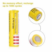 1pcs 18650 Li-ion Capacity 3.7V Rechargeable Battery for LED Torch Flashlights New Torch Batteries 2000mah(China)