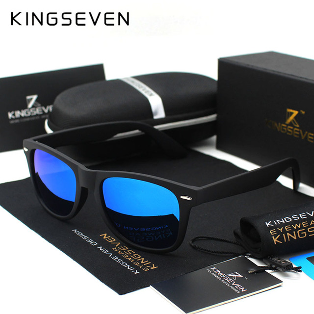 Kingseven Revo Coating Men Sunglasses Women polarized Driving Mirror Eyewear Male Sun glasses Points Women Oculos de sol female