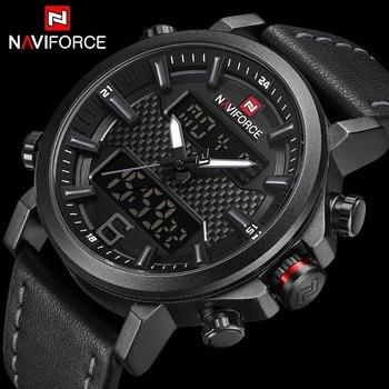 6d8d4681aa6d NAVIFORCE superior de la marca de lujo de cuarzo militar para hombre relojes  LED fecha Digital analógico reloj de los hombres de moda deporte reloj  Relogio ...