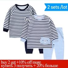 Купить с кэшбэком Spring Pyjama Baby Boy Children's Pajamas Set Baby Pyjamas Cotton Pajamas Kids Boys Pajamas For Boys Pijama Pajamas For Girls