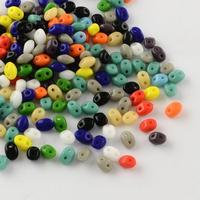 Japanese Seed Beads 2 Hole Seed Beads White 5x3 5x3mm Hole 0 5mm About 650pcs Bag