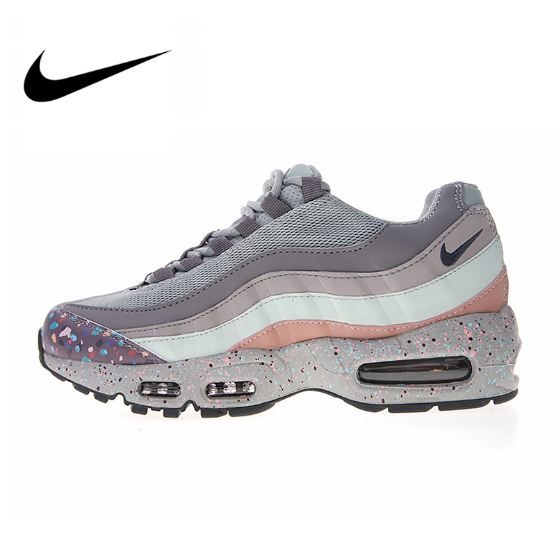Original Authentic Nike WMNS Air Max 95 SE Women's Running Shoes Sport Outdoor Sneakers Designer 2018 New Arrival 918413 002
